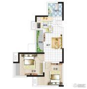 亚星盛世2室1厅1卫65平方米户型图