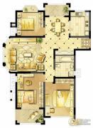 诚河新旅城3室2厅1卫130平方米户型图