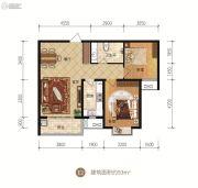 众美凤凰府2室2厅1卫93平方米户型图