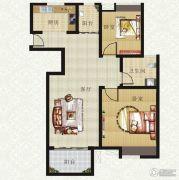 山畔景苑2室1厅1卫85平方米户型图