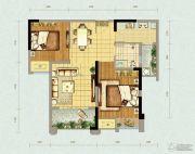 北大资源燕南2室2厅1卫59平方米户型图