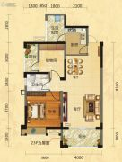 福庆花雨树2室2厅1卫90平方米户型图