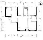 华安紫竹苑3室2厅2卫135平方米户型图