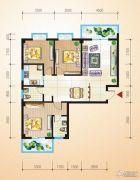 中恒兴・翰林福第3室2厅3卫117平方米户型图