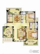 银亿璞园2室2厅2卫92平方米户型图