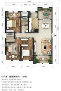 东湖方舟3室2厅2卫165平方米户型图