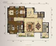 龙湖首开天宸原著4室2厅2卫144平方米户型图