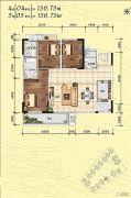 侨园・黄金海岸3室2厅3卫0平方米户型图
