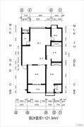 金域龙湾3室2厅2卫121平方米户型图