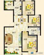 垠地中山城3室2厅1卫110--115平方米户型图