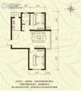 新城国际2室2厅1卫79平方米户型图