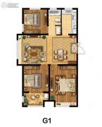 美麟・常青藤3室2厅1卫126平方米户型图
