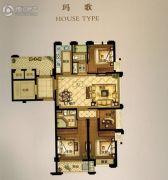 华瑞府4室3厅3卫116平方米户型图