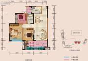 中央首座3期银座4室2厅2卫128平方米户型图