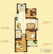 鑫江水青花都3室2厅1卫86--87平方米户型图