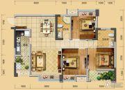 佳兆业君临3室2厅2卫93平方米户型图