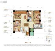 万科御澜道4室3厅3卫186平方米户型图