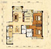 福庆花雨树3室2厅2卫111平方米户型图