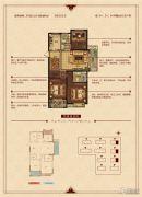 华锦锦园3室2厅2卫111--118平方米户型图