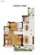 碧桂园豪进左岸3室2厅2卫117平方米户型图