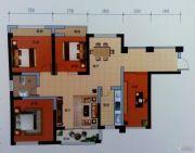 曼哈顿商业广场4室2厅1卫90平方米户型图