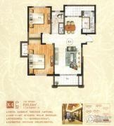 绿地泰晤士新城2室2厅1卫91平方米户型图