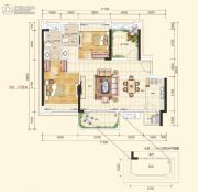 江海天悦2室2厅2卫0平方米户型图