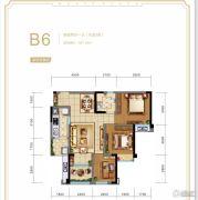 华宇广场2室2厅1卫87平方米户型图