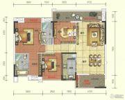 奥园春晓3室2厅2卫123平方米户型图