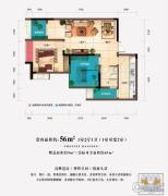 中渝梧桐郡梧桐公馆1室2厅1卫56平方米户型图