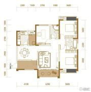 香江华府2室2厅1卫118平方米户型图