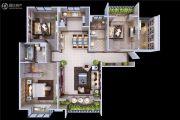 颐馨・湿地・壹�3室2厅2卫116平方米户型图