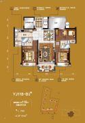 碧桂园・豪庭3室2厅2卫0平方米户型图
