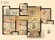 九龙仓时代上城国宾�o3室2厅1卫100平方米户型图