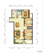 佳源巴黎都市3室2厅1卫99平方米户型图