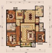中冶世家4室2厅2卫193平方米户型图