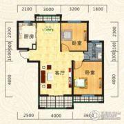 海德公园2室2厅1卫88平方米户型图