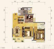 恒大金阳新世界3室2厅1卫0平方米户型图