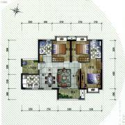保利�W府里3室2厅2卫94平方米户型图