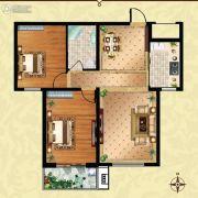 方晖・京港国际2室2厅1卫92平方米户型图