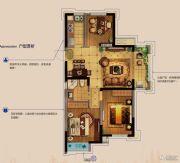 金科财富商业广场3室2厅1卫90平方米户型图