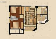 江南明城金座2室2厅1卫0平方米户型图