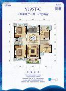 碧桂园凰城4室2厅1卫109平方米户型图