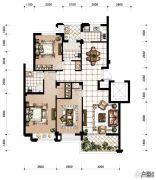 香河湾3室2厅2卫129平方米户型图