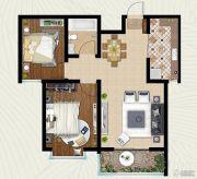 翡翠�m亭2室2厅1卫82平方米户型图