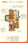 圣园3室2厅2卫118平方米户型图