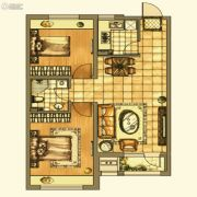 银亿格兰郡2室2厅1卫90平方米户型图