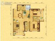 森嘉幸福里3室2厅2卫106平方米户型图