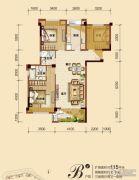 福鼎泰禾红树林3室2厅2卫95平方米户型图
