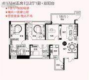 云山峰境花园5室2厅3卫172平方米户型图